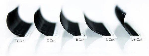 eyelash extension curls