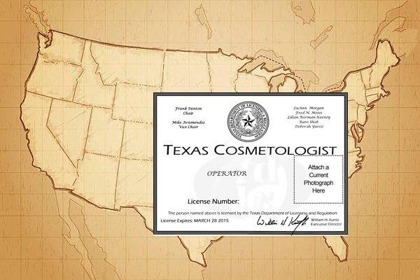 eyelash license of each states
