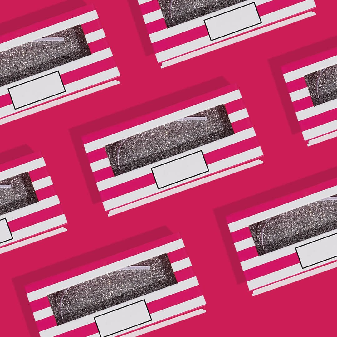 custom eyelash packaging boxes with windows